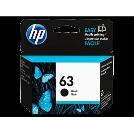 5Pcs of HP 63 Black Ink...